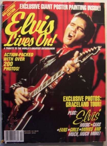 Elvis Presley Books - ELVIS [Presley] Lives On! A Tribute to the World's Greatest Entertainer! (Exclus