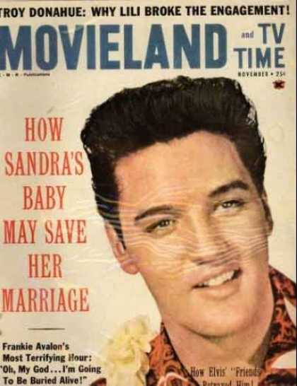 Elvis Presley Books - Movieland and TV Times Magazine November 1961 (Elvis Presley cover)