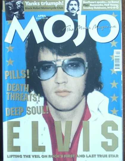 Elvis Presley Books - Mojo Magazine Issue 101 (April, 2002) (Elvis Presley cover)