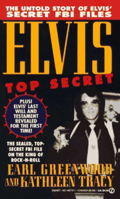 Elvis Presley Books - Elvis Top Secret (Signet)