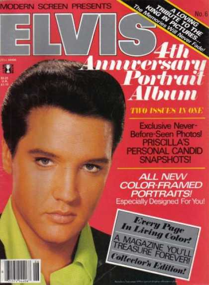 Elvis Presley Books - Modern Screen Presents Elvis 4th Anniversary Portrait Album (Volume 1 Number 6)