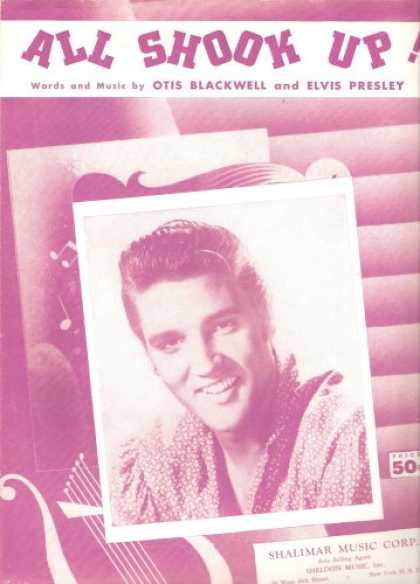 Elvis Presley Books - All Shook Up (Vintage Sheet Music)