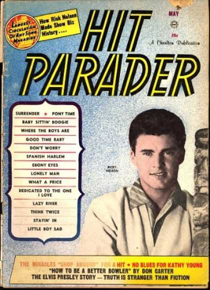 Elvis Presley Books - Hit Parader Magazine 1961 (Rick Nelson cover)