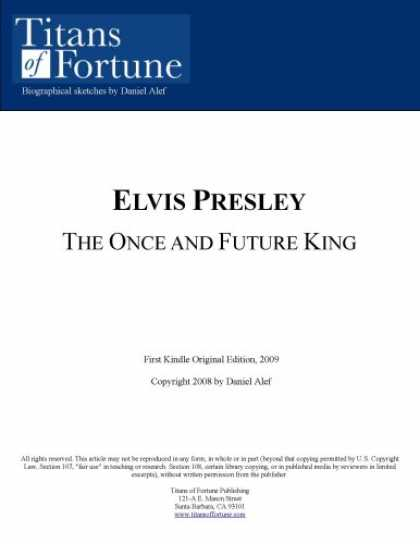 Elvis Presley Books - Elvis Presley: The once and future 'King'