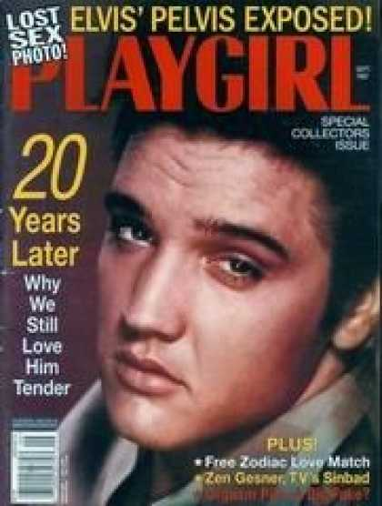 Elvis Presley Books - Playgirl Magazine, issue dated September 1997.  Lost Sex Photo: Elvis Presley