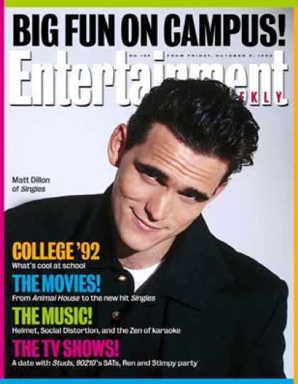 Entertainment Weekly - Matt Dillon Didn't Go To College But He Made Three Really Smart Films In the La
