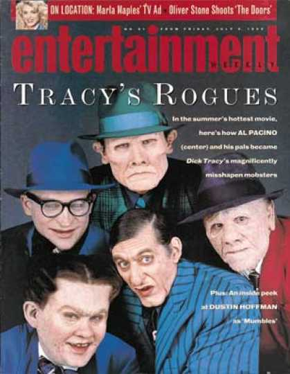 "Entertainment Weekly - The Villians of ""dick Tracy"""