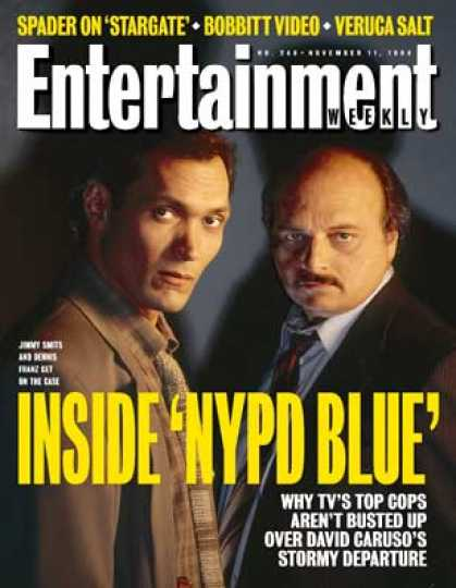 Entertainment Weekly - With David Caruso's Departure and Jimmy Smits' Arrival, the Men and Women of Ny