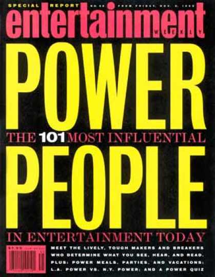 Entertainment Weekly - 101: The Most Powerful People In Entertainment Movies, Television, Music, Publ
