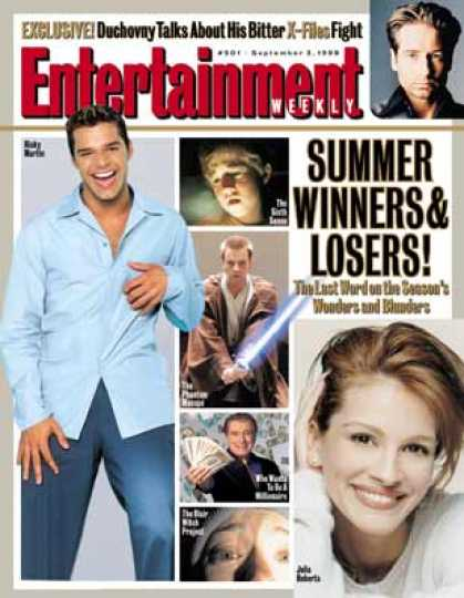 Entertainment Weekly - Ricky Martin, Regis, and Others: The Winners of Summer 1999
