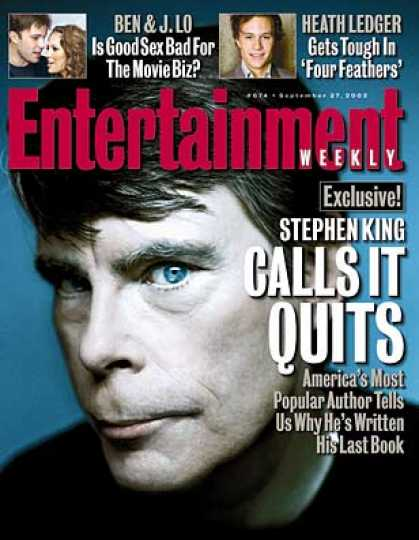 Entertainment Weekly - Stephen King Talks Retirement -- Seriously This Time