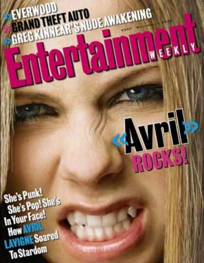 Entertainment Weekly - How Avril Lavigne Became the New Pop Idol