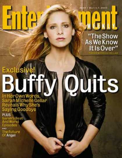 "Entertainment Weekly - Sarah Michelle Gellar: Why I Quit ""buffy"""