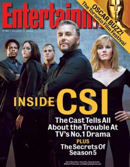 "Entertainment Weekly - Trouble For Tv's Top Drama? the ""csi"" Cast Tells All"