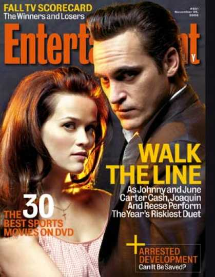"Entertainment Weekly - ""walk the Line"": Joaquin and Reese On Their Risky Duet"