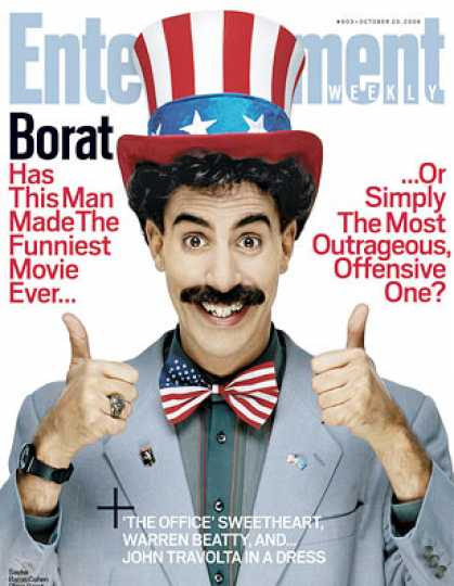 "Entertainment Weekly - ""borat"": Funniest Movie Ever...or the Most Offensive?"