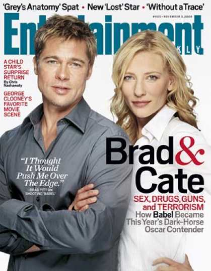 "Entertainment Weekly - ""babel"": Brad and Cate's Dark-horse Oscar Contender"