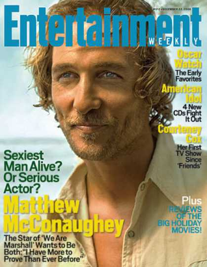 Entertainment Weekly - Matthew Mcconaughey: Too Sexy For His Own Good?