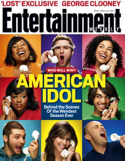 "Entertainment Weekly - Melinda? Blake? Sanjaya?! Who Will Win ""idol""?"