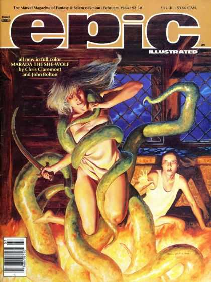 Epic 22 - Marada The She-wolf - Tentacles - Fantasy And Science Fiction - Bedroom - Marvel Magazine