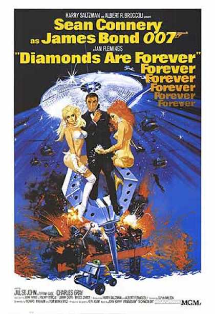 Essential Movies - Diamonds Are Forever Poster