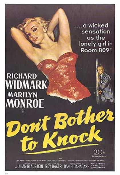 Essential Movies - Don't Bother To Knock Poster