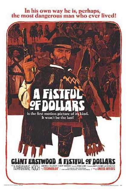 Essential Movies - Fistful Of Dollars Poster