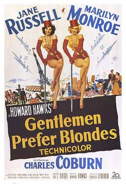 Essential Movies - Gentlemen Prefer Blondes Poster