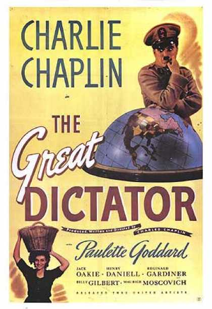 Essential Movies - Great Dictator Poster