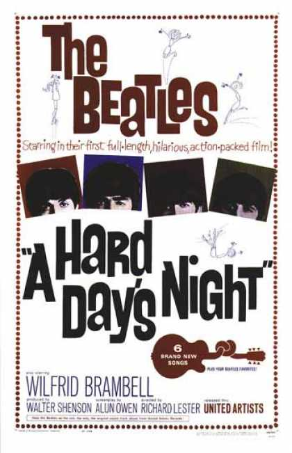 Essential Movies - Hard Day's Night Poster