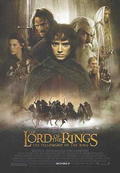 Essential Movies - Lord Of The Rings: The Fellowship Of The Ring Poster