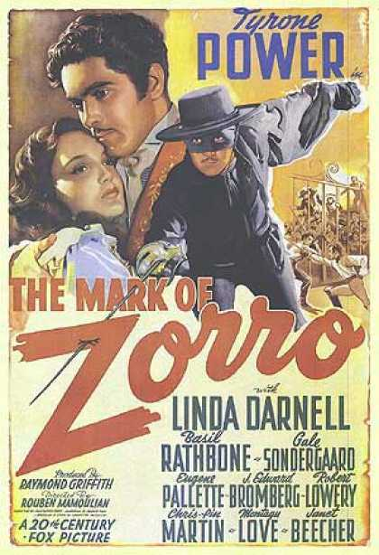 Essential Movies - Mark Of Zorro Poster