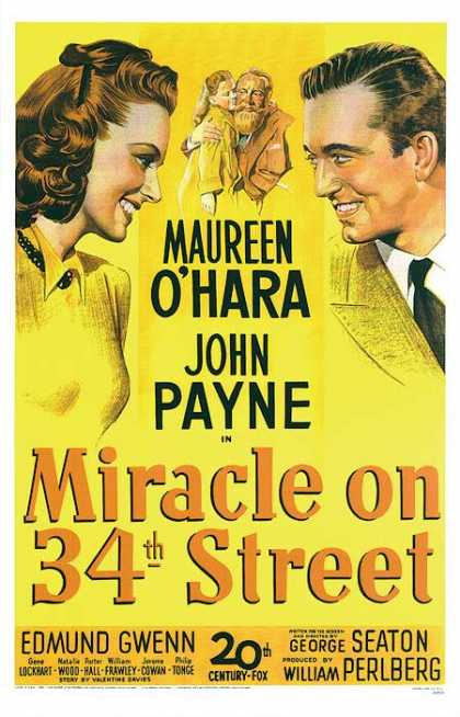 Essential Movies - Miracle On 34th Street Poster