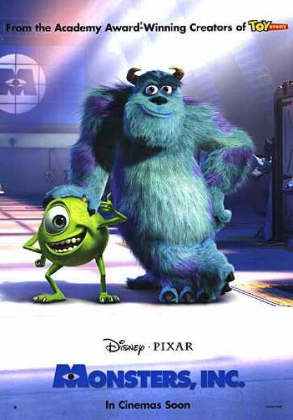 Essential Movies - Monsters, Inc. Poster