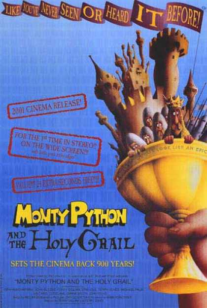 Essential Movies - Monty Python And The Holy Grail Poster