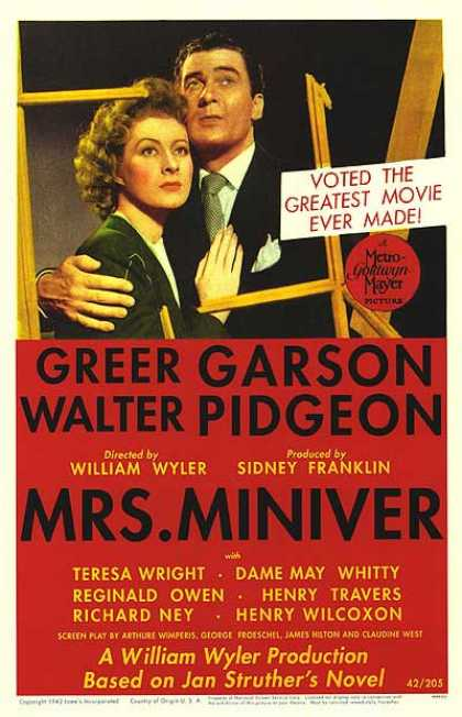 Essential Movies - Mrs. Miniver Poster
