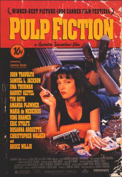 Essential Movies - Pulp Fiction Poster