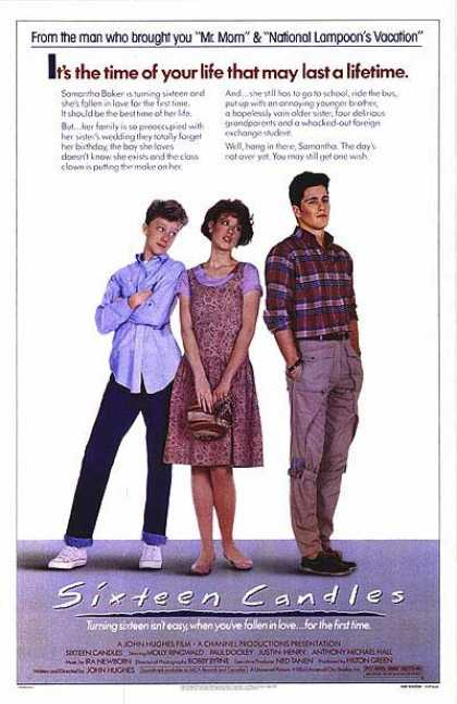 Essential Movies - Sixteen Candles Poster