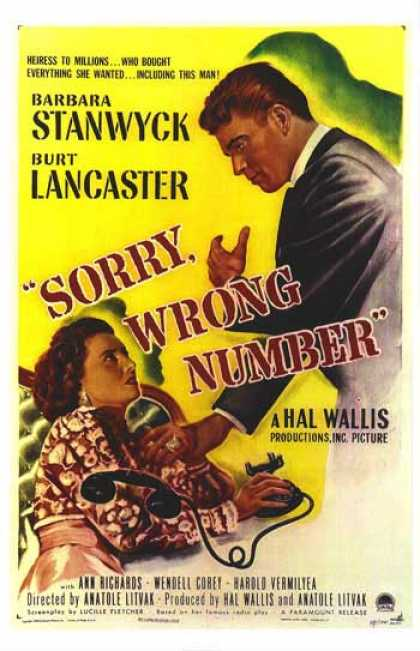 Essential Movies - Sorry, Wrong Number Poster