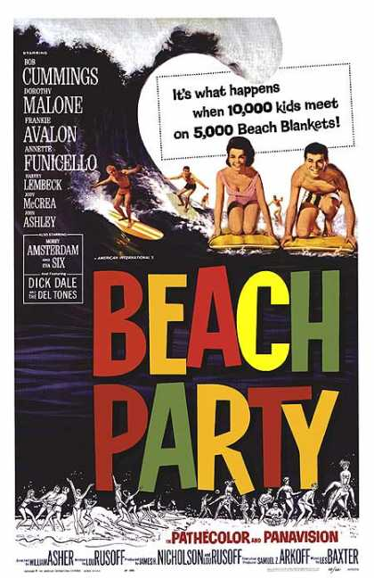 Essential Movies - Beach Party Poster