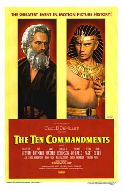 Essential Movies - Ten Commandments Poster