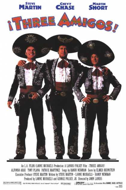 Essential Movies - Three Amigos Poster