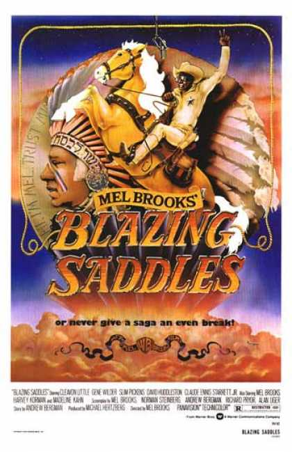 Essential Movies - Blazing Saddles Poster