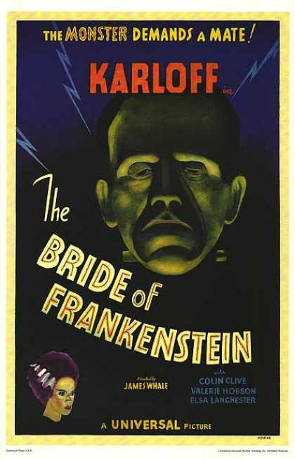 Essential Movies - Bride Of Frankenstein Poster