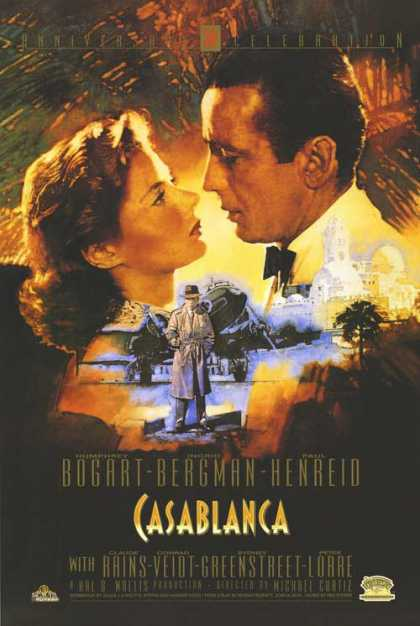 Essential Movies - Casablanca Poster