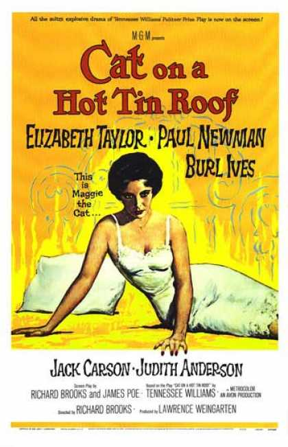 Essential Movies - Cat On A Hot Tin Roof Poster