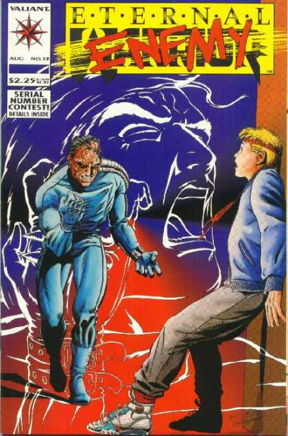 Eternal Warrior 13 - Evil Villain - Frightened Boy - Headband - Sneakers - Screaming Face - Jimmy Palmiotti