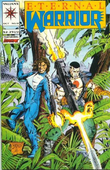 Eternal Warrior 15 - Blue Costume - Missile Gun - Palm Trees - Flash Gun - Pistol - Yvel Guichet
