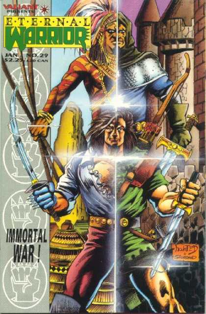 Eternal Warrior 29 - Castle - Warriors - Sword - Knife - Bow - Dick Giordano