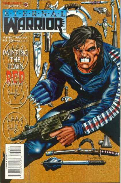 Eternal Warrior 32 - Painting The Town Red - Blades - Teeth - Guns - Claws - Jan Duursema